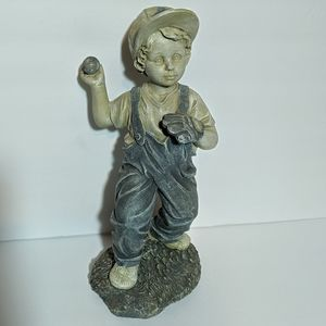 Sculpture by Jaimy Little Boy Pitching Baseball